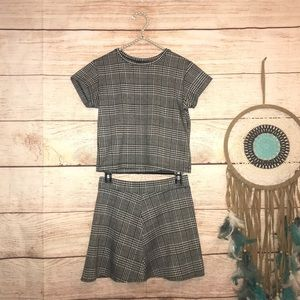 Brandy Melville one size plaid matching set